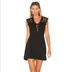 NWOT Revolve BCBGen Black Lace Inset Mini Dress 6